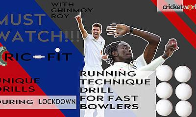 Fast bowler's running mechanics drills