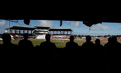 Sir Vivian Richards Stadium, North Sound, Antigua and Barbuda - January 31, 2019 Fans watch