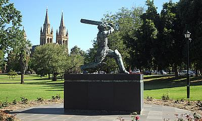 Don Bradman statue outside the Adelaide Oval, Adelaide, ground