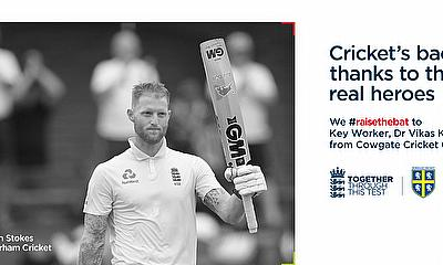 Ben Stokes leads tribute for key workers as #raisethebat Test gets underway