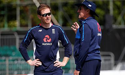Eoin Morgan during training