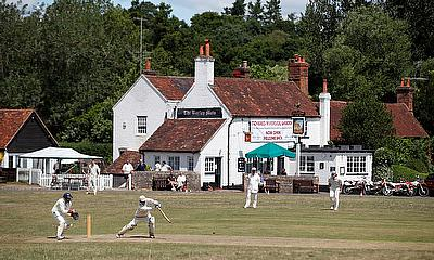 Tilford Cricket Club play an inter club match, on the first weekend that recreational cricket i