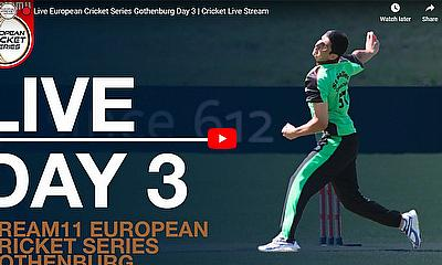Live European Cricket Series Gothenburg Day 3 | Cricket Live Streaming