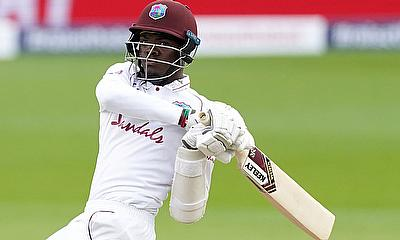 West Indies' Alzarri Joseph in action