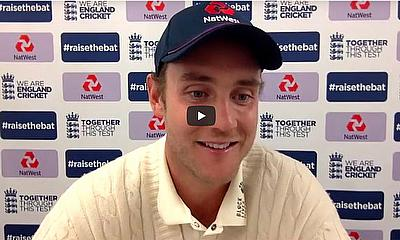 Stuart Broad spoke to media after day two of the #raisethebat third Test against West Indies