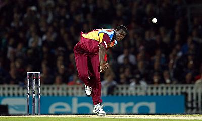West Indies' Darren Sammy in action