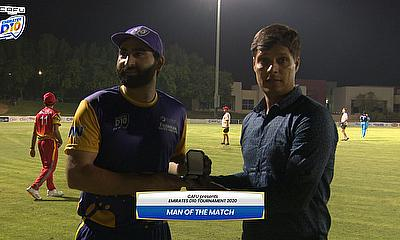 Waseem Muhammad was named Player of the match
