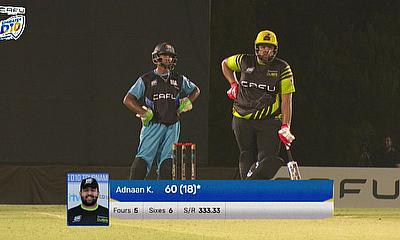 Adnaan Khan played a masterful knock