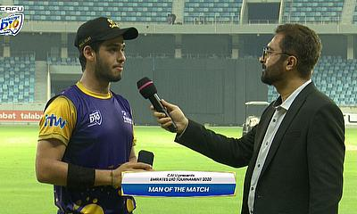 Sanchit Sharma was named player of the match