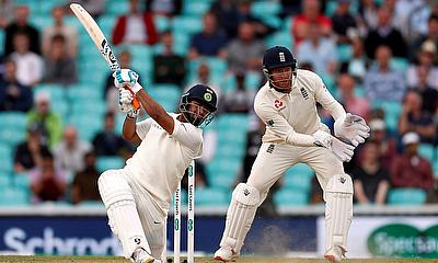India's Rishabh Pant in action