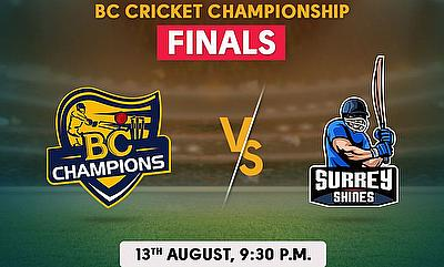 Cricket Betting Tips and Fantasy Cricket Match Predictions: BC Cricket Championship 2020 - Surrey Shines vs BC Champions - Final