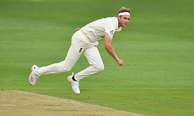 England's Stuart Broad in action