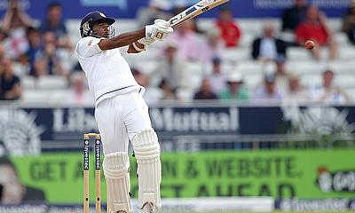Sri Lanka's Mahela Jayawardene in action