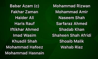 17 players shortlisted by Pakistan for England T20Is