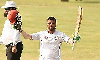 Khost captain Shahidullah celebrates his hundred