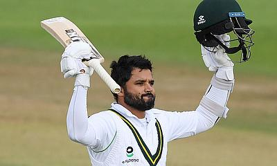 Pakistan's Azhar Ali celebrates his century