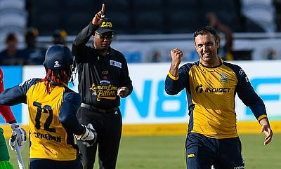 Mohammad Nabi claimed the crucial wicket of Ross Taylor