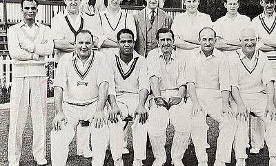 1959 Cricket Festival - alongside Sir Garfield Sobers.1959 Cricket Festival - alongside Sir Garfield Sobers - standing first from left.