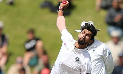 India's Ishant Sharma in action