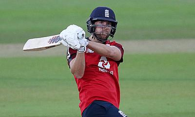 England's Dawid Malan in action