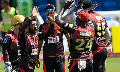 Trinbago Knight Riders celebrate