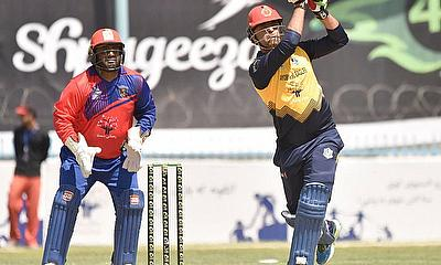 Noor Ali Zadran play a swift knock