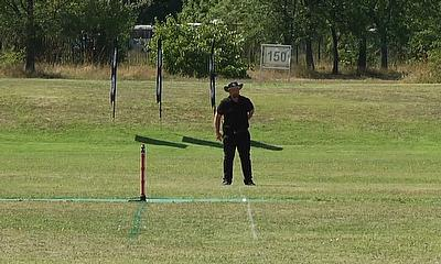ECS Bulgaria T10 2020 - Umpire awaiting start of play