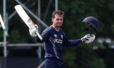 Scotland's Calum MacLeod celebrates reaching a century