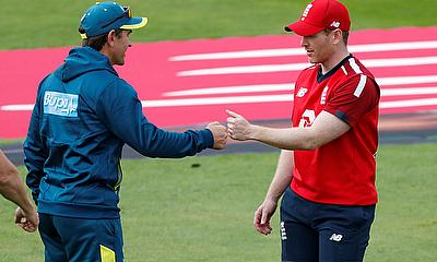 England's Eoin Morgan after the match