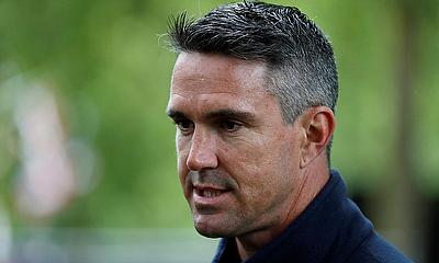 Kevin Pietersen talks to the media