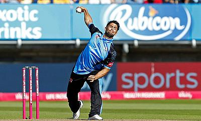 Worcestershire Rapids' Brett D'Oliveira in action