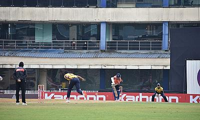 Action from the Karbonn Jharkhand T20
