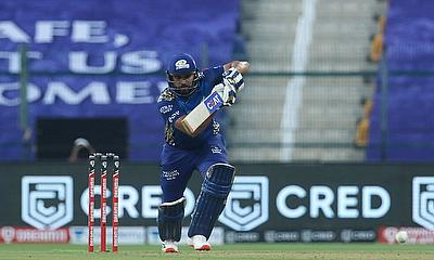 Rohit Sharma, captain of Mumbai Indians plays a shot