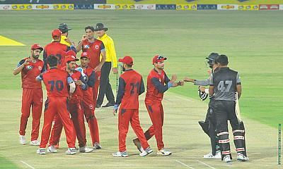 Northern celebrate a wicket on day one of the National T20 Cup 2020