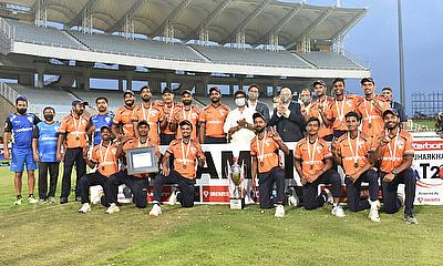 Bokaro Blasters team  the winners of the Karbonn Jharkhand T20 2020