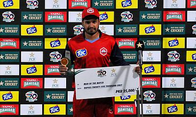Zeeshan Malik is the Man of the Match