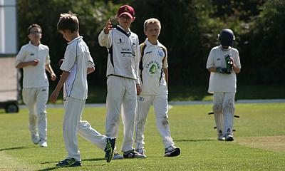 Irby CC youth cricketers in action