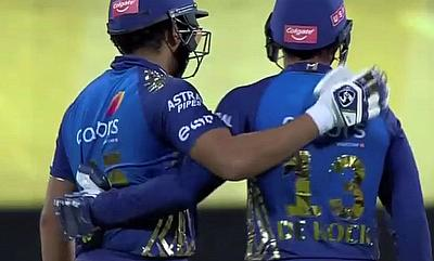 Rohit Sharma and Quinton de Kock shared a wonderful stand