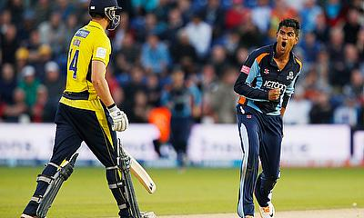 Azeem Rafiq in action for Yorkshire