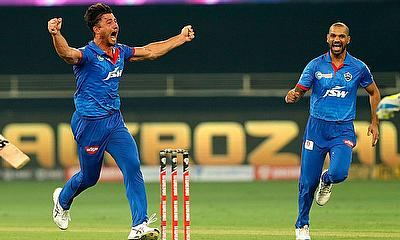 Delhi Capitals celebrate a win in the league stage