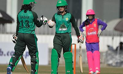 Partnership between Bismah Maroof 61and  Fatima Sana 41