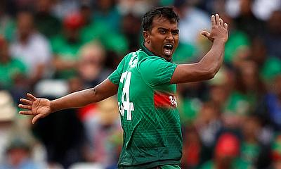 Rubel Hossain in action for Bangladesh
