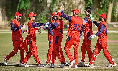 Northern players celebrate a wicket