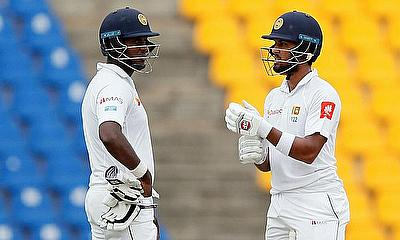 Sri Lanka's captain Dinesh Chandimal and Angelo Mathews