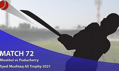 Syed Mushtaq Ali Trophy 2021 - Mumbai vs Puducherry, Elite E
