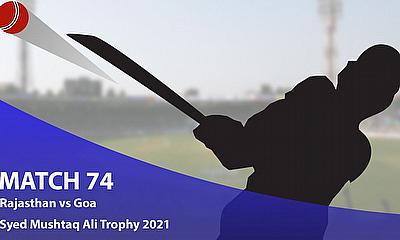 Syed Mushtaq Ali Trophy 2021 - Rajasthan vs Goa, Elite D