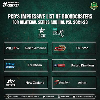 Pakistan cricket to go global through leading broadcasters