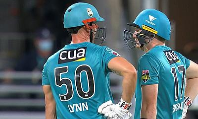 Chris Lynn top scored for the Heat today