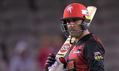 Mohammad Nabi playing recently for the Melbourne Renegades