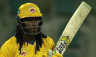 Chris Gayle is due a big knock for Team Abu Dhabi